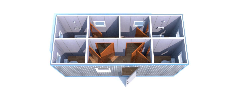 Блок-Контейнера (Д.,Ш.,В.) 6,0*2,4*2,5м